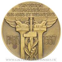 Médaille, Exposition des Arts  et techniques de Paris 1937 par P. TURIN