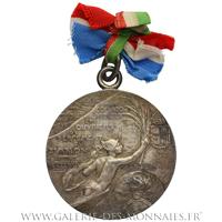 Médaille souvenir du percement du tunnel ferrovière du Simplon, par H. Frei 1905