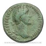 Sesterce frappé à Rome vers 153-154.