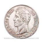 5 FRANCS Charles X, 2ème type, 1830 B Rouen