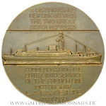 Médaille du Paquebot Lafayette, version anglaise 1930, par DELANNOY