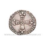 Quart d'écu à la croix fleurdelisée, 1623 T Nantes