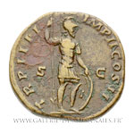 Sesterce frappé à Rome en 164