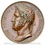 Médaille Construction du Palais de Justice de Rodez par Montagny et Salmson 1834