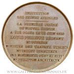 Médaille de l'Institut des jeunes aveugles à Paris par Barre, 1839