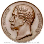 Médaille Plébiscite de 1851 en faveur de Louis Napoléon Bonaparte par Gayrard