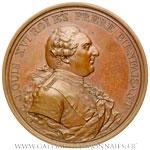 Médaille, les prémices de l'or des mines d'Allemont 1786, par DUPRÉ