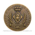 Médaille centenaire de la Caisse d'épargne de Perpignan 1936 par J. Delpech