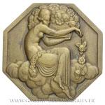 Médaille octogonale, Exposition des Arts décoratifs de Paris 1925 par P. TURIN