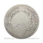 5 Francs Bonaparte Premier Consul, AN XI A Paris