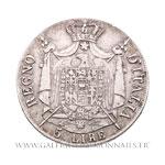 5 Lire 1807 M Milan tranche en relief