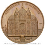 Construction de la cathédrale Sainte Marie Majeure de Marseille 1855, par OUDINÉ