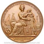 Médaille Réception de la Reine d'Angleterre à Boulogne-sur-Mer par Barre, 1855