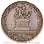 Médaille statue équestre de Napoléon Ier à Cherbourg, 1858