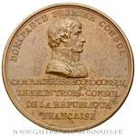 Médaille pose de la première pierre de la colonne Vendôme 1800, par DUVIVIER