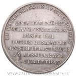 Médaille, pose de la première pierre de la colonne Vendôme 1800, par DUVIVIER