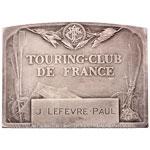 Plaquette argent Touring Club de France 1953 par Lenoir