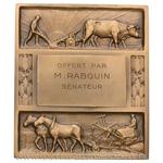 Plaquette concours agricole par Morlon, offerte par le sénateur Rabouin