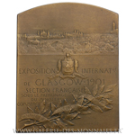 Plaquette Exposition internationale de Glasgow (Écosse) 1901, par F. Vernon