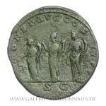 Sesterce frappé à Rome vers 194-195.